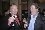 Dai Llewellen and Patrick Meehan, Charles Finch and Weidenfeld and Nicolson host a party to celebrate the publication of 'Dancing Into Battle' by Nick Foulkes. The Westbury Hotel, Conduit St. London. 14 December 2006. ONE TIME USE ONLY - DO NOT ARCHIVE  © Copyright Photograph by Dafydd Jones 248 CLAPHAM PARK RD. LONDON SW90PZ.  Tel 020 7733 0108 www.dafjones.com