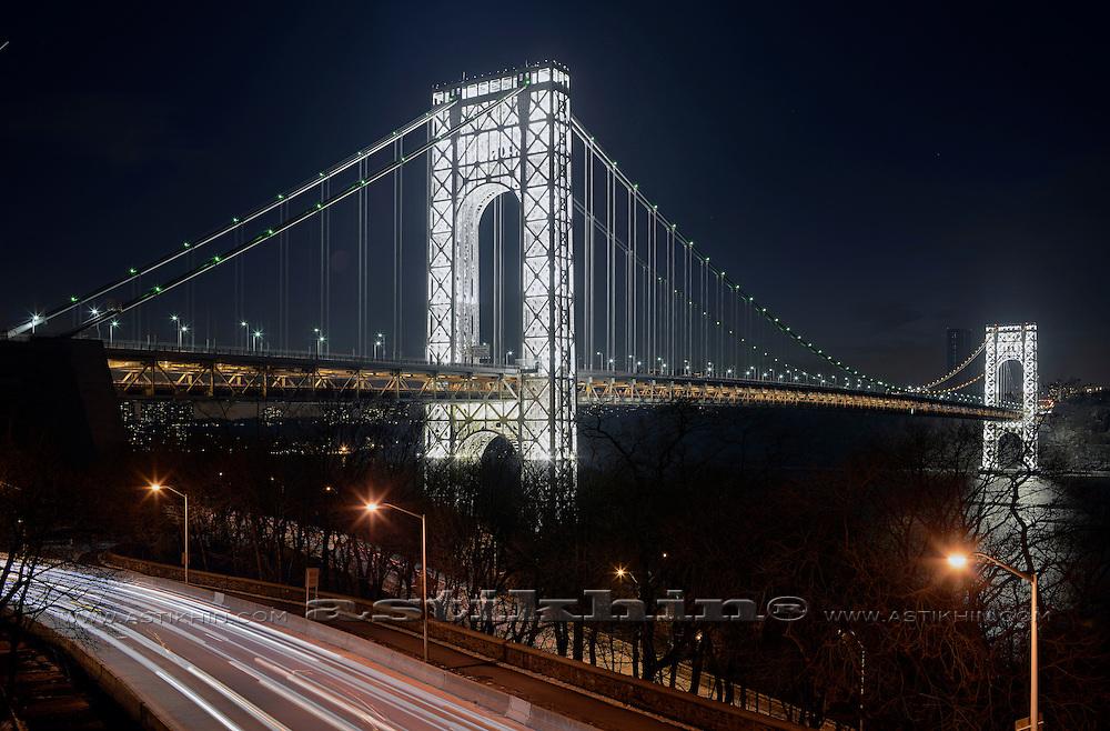 George Washington Bridge, view from Manhattan NYC.
