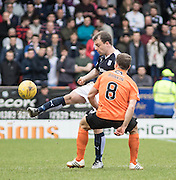 Dundee&rsquo;s Paul McGowan and Dundee United's John Rankin - Dundee United v Dundee in the Ladbrokes Premiership at Tannadice<br /> <br />  - &copy; David Young - www.davidyoungphoto.co.uk - email: davidyoungphoto@gmail.com