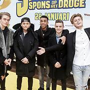 NLD/Amsterdam/20150125 - Premiere Spongebob in 3D - Sponge op het Droge, B-Brave, Kaj van der Voort, Samuel Leijten, Cassius Verbond, Dioni Jurado-Gomez, Jai Wowor
