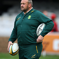DURBAN, SOUTH AFRICA - AUGUST 18: Matt Proudfoot (Forward Coach) of South Africa during the Rugby Championship match between South Africa and Argentina at Jonsson Kings Park on August 18, 2018 in Durban, South Africa. (Photo by Steve Haag/Gallo Images)