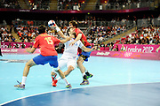 DESCRIZIONE : Handball Jeux Olympiques Londres Quart de Finale<br /> GIOCATORE : Karabatic Nikola FRA<br /> SQUADRA : France Homme<br /> EVENTO : FRANCE Handball Jeux Olympiques<br /> GARA : France Espagne<br /> DATA : 08 08 2012<br /> CATEGORIA : handball Jeux Olympiques<br /> SPORT : HANDBALL<br /> AUTORE : JF Molliere <br /> Galleria : France JEUX OLYMPIQUES 2012 Action<br /> Fotonotizia : France Handball Homme Jeux Olympiques Londres Quart de Finale Basketball Arena<br /> Predefinita :