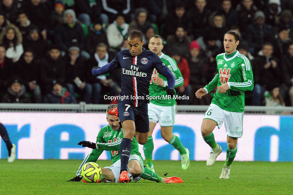 Lucas MOURA - 25.01.2015 - Saint Etienne / PSG  - 22eme journee de Ligue1<br />