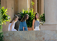 Palma de Mallorca, 31-07-2017<br /> <br /> Photo session with King Felipe and Queen Letizia and their daughters Princess Leonore and Princess Sofia in the Garden of the Marivent Palace.<br /> <br /> <br /> <br /> <br /> <br /> Royalportraits Europe/Bernard Ruebsamen