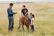 Rocky Boy Rodeo-kids-Indians-horses-Rocky Boy Reservation-Montana