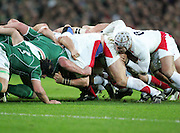 James Haskell supports the back of the scrum during the RBS Six Nations match between Ireland v England, Croke Park, Dublin, Saturday 28th February