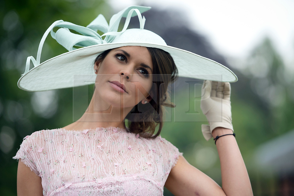 © London News Pictures. 18/06/2013. Ascot, UK.  Danielle Lineker, wife of former footballer Garry Lineker, attending day one of Royal Ascot at Ascot racecourse in Berkshire, on June 18, 2013.  The 5 day showcase event,  which is one of the highlights of the racing calendar, has been held at the famous Berkshire course since 1711 and tradition is a hallmark of the meeting. Top hats and tails remain compulsory in parts of the course. Photo credit should read: Ben Cawthra/LNP