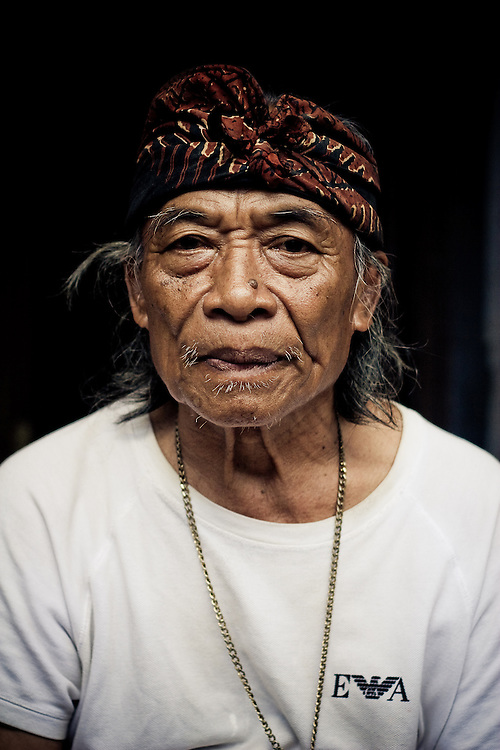 Ketut Liyer, of Eat, Pray, Love fame, sits on his front porch in Ubud, Bali, Indonesia.