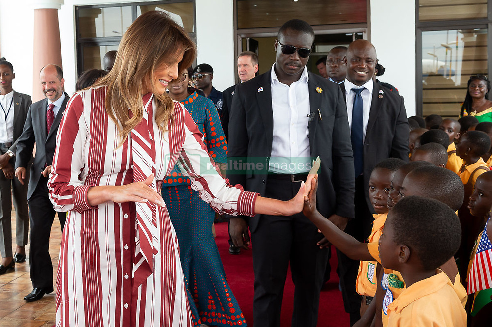 October 2, 2018 - Accra, Ghana, West Africa - First Lady Melania Trump and students at Kotoka International Airport in Accra, Ghana. (Credit Image: ? Andrea Hanks/White House via ZUMA Wire/ZUMAPRESS.com)