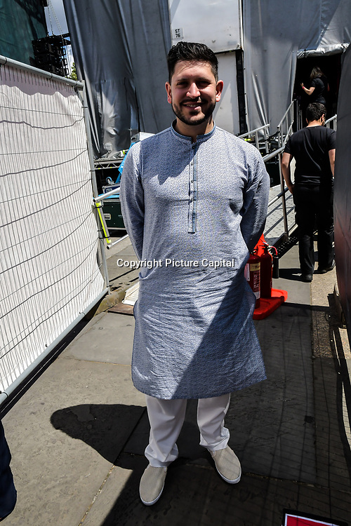 Abdullah Afzal is an actor presenters at the Eid festival in Trafalgar Square London to mark the end of Ramadan on 8 June 2019, London, UK.