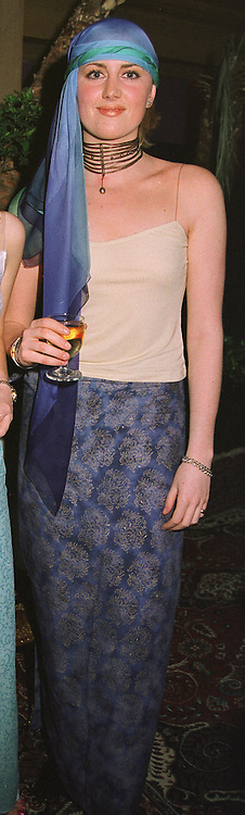 LADY EMILY COMPTON at a party in London on 25th March 1999.MPT 47 woro