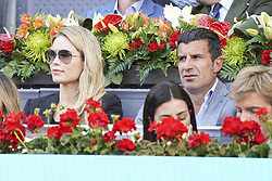 May 12, 2019 - Madrid, Spain - Helen Svedin,  Luis Figo  attend the men's final during day 9 of the Mutua Madrid Open at La Caja Magica on May 12, 2019 in Madrid, Spain. (Credit Image: © Oscar Gonzalez/NurPhoto via ZUMA Press)