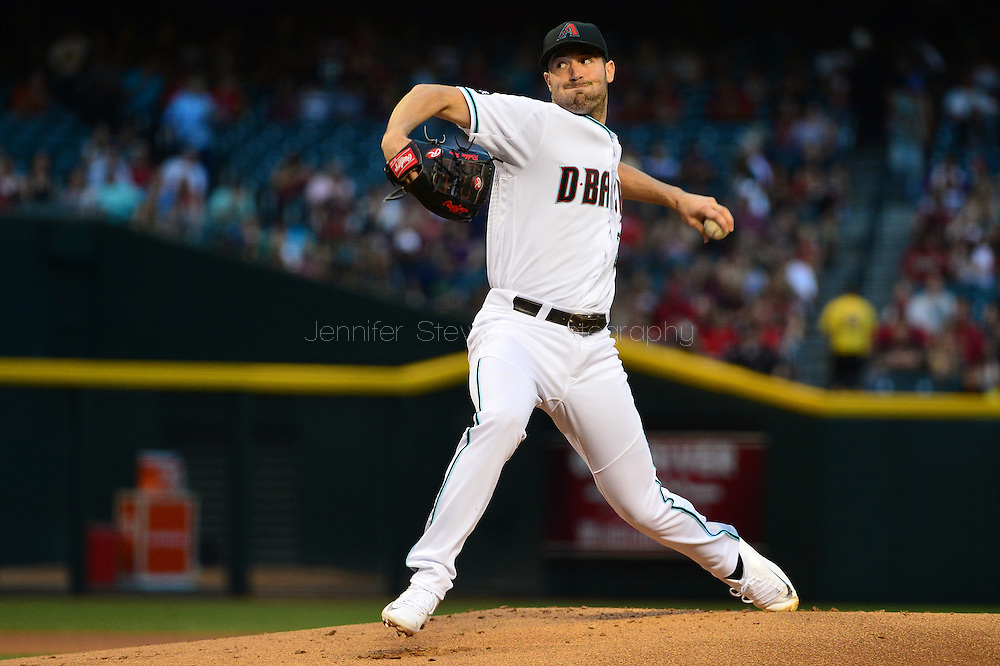 Apr 29, 2016; Phoenix, AZ, USA; Arizona Diamondbacks starting pitcher Robbie Ray (38) delivers a pitch during the first inning against the Colorado Rockies at Chase Field. Mandatory Credit: Jennifer Stewart-USA TODAY Sports