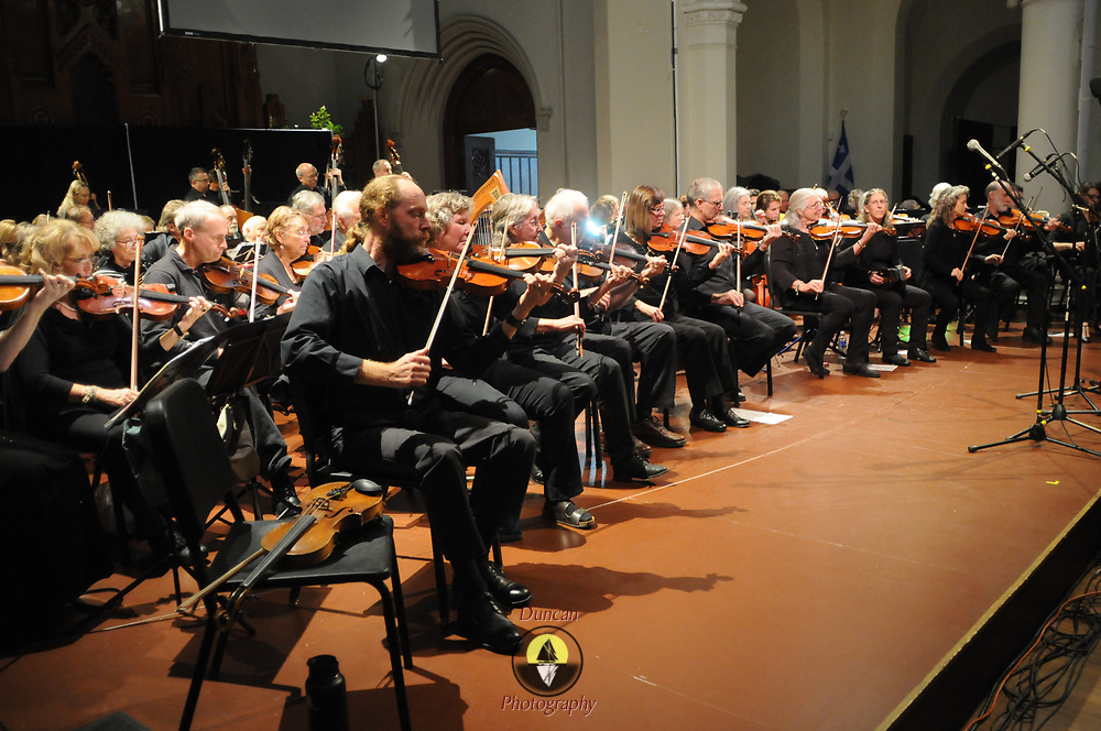 LEWISTON, Maine - 10/29/17 -- Fiddle-icious performance at Lewiston's Gendron Franco Center. Photo by Roger S. Duncan.