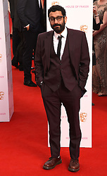 Adeel Akhtar attends The House of Fraser British Academy Television Awards at The Theatre Royal, Dury Lane, London on Sunday 10 May 2015