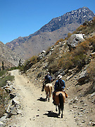 Horse-riding in the Cochiguaz Valley, near Pisco Elqui, Chile