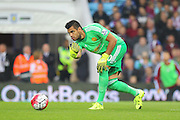 Sergio Romero Goalkeeper of Manchester United during the Barclays Premier League match between Aston Villa and Manchester United at Villa Park, Birmingham, England on 14 August 2015. Photo by Phil Duncan.