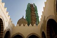 Egypt. Cairo -mosque SHAYKHU - the minaret under renovation - in SALIBA street Islamic Cairo  +