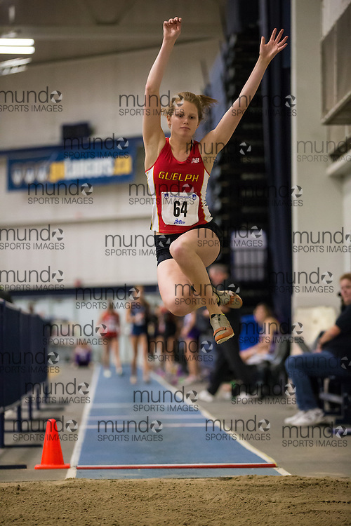 Mikaela Vandenheuvel of the University of Guelph  competes at the 2014 CanAm Track and Field meet in Windsor Ontario, Saturday,  January 11, 2014.<br /> Mundo Sport Images/ Geoff Robins