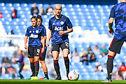 Manchester United Women defender Millie Turner (21) warming up during the FA Women's Super League match between Manchester City Women and Manchester United Women at the Sport City Academy Stadium, Manchester, United Kingdom on 7 September 2019.