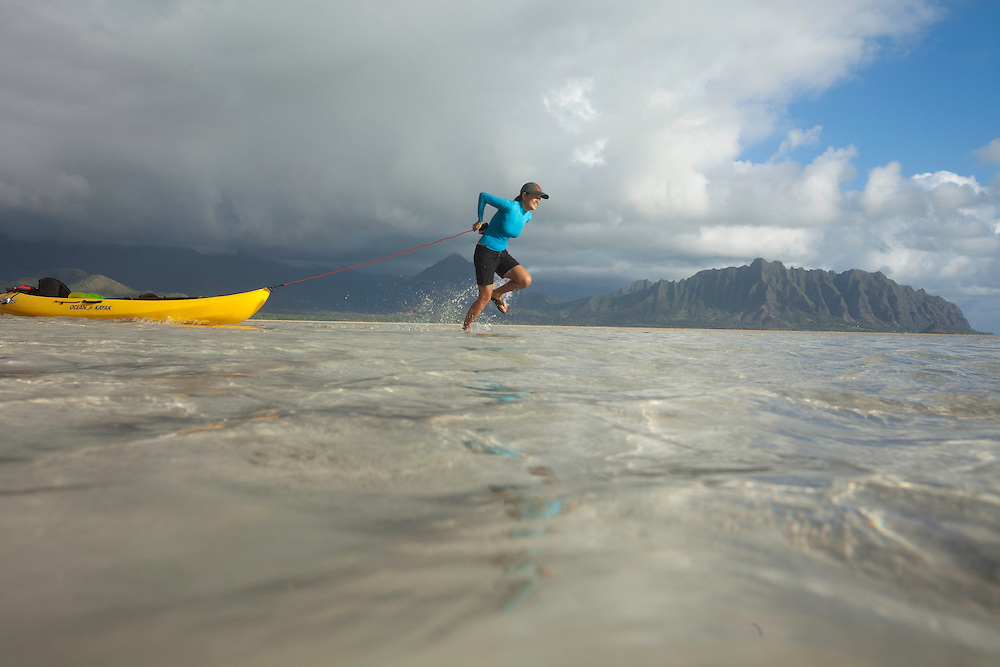 Kaneohe Sandbar, Crossing the sandbar to Kipapa Island
