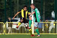 3.9.2017, Tapiolan Urheilupuisto, Espoo.<br /> Ykkönen 2017.<br /> FC Honka - Kokkolan Pallo-Veikot.<br /> Konstiantyn Iraroshenko (KPV) v Borjas Martín (Honka).