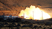test firing of NASA's Ares five-segment solid rocket motor at the ATK's test facility in Promontory, Utah, Tuesday August 27, 2010. Photo by Colin E Braley