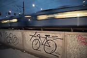 På järnvägsbron mellan Riddarholmen och Centralen