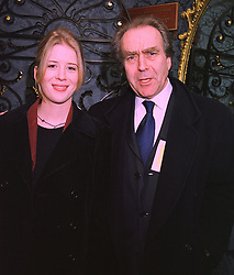 Cartoonist GERALD SCARFE and his daughter MISS KATIE SCARFE, at a reception in London on 3rd February 1998.MFB 29