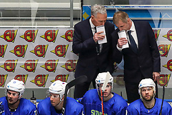 Mike Zettel, assistant coach of Slovenia and Ivo Jan, head coach of Slovenia during ice hockey match between Slovenia and Kazakhstan at IIHF World Championship DIV. I Group A Kazakhstan 2019, on April 29, 2019 in Barys Arena, Nur-Sultan, Kazakhstan. Photo by Matic Klansek Velej / Sportida