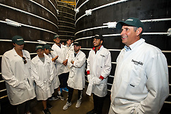 Thatcher's Cider Director Martin Thatcher takes Bristol Sport representatives on a tour of Myrtle Farm - Rogan Thomson/JMP - 29/07/2016 - PR - Myrtle Farm - Sandford, England - Bristol Sport Thatchers Visit.