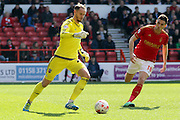 during the Sky Bet Championship match between Nottingham Forest and Brentford at the City Ground, Nottingham, England on 2 April 2016. Photo by Chris Wynne.