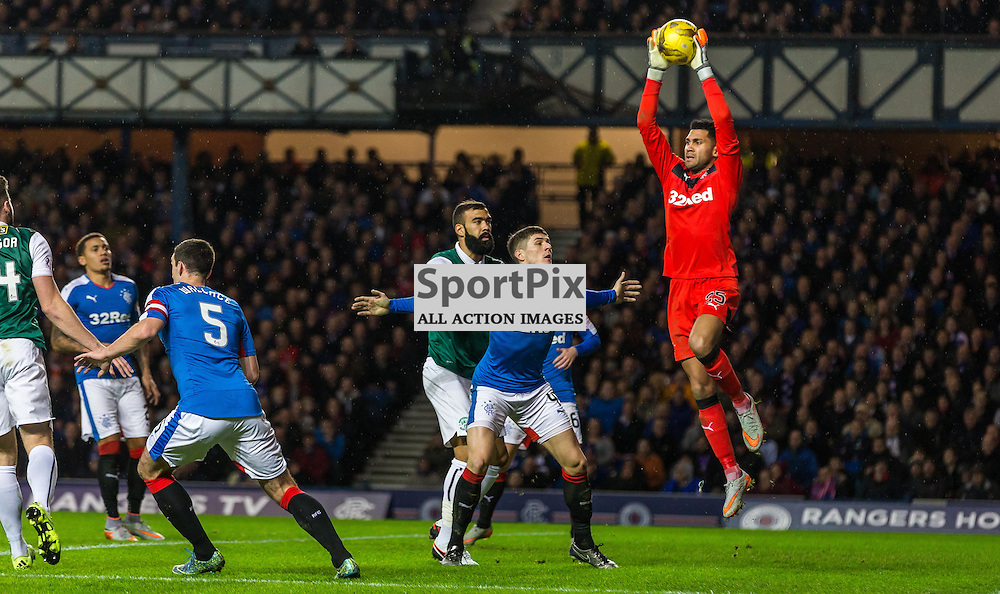 Wes Foderginham in action during the match between Rangers and Hibernian (c) ROSS EAGLESHAM | Sportpix.co.uk