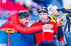 16.01.2020, Chiemgau Arena, Ruhpolding, GER, IBU Weltcup Biathlon, Sprint, Herren, im Bild v.l. Ricco Gross Cheftrainer Herren (AUT), David Komatz (AUT) // f.l. Ricco Groß head coach of Austria men and David Komatz of Austria during the men's sprint competition of BMW IBU Biathlon World Cup at the Chiemgau Arena in Ruhpolding, Germany on 2020/01/16. EXPA Pictures © 2020, PhotoCredit: EXPA/ Stefan Adelsberger