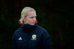 BOLOGNA, ITALY - Tuesday, January 22, 2019: Wales' Elise Hughes during a pre-match walk at the team hotel in Bologna ahead of the International Friendly game against Italy. (Pic by David Rawcliffe/Propaganda)