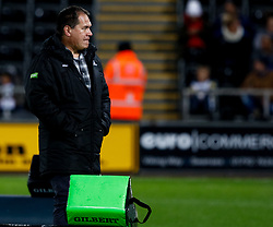 2nd November, Liberty Stadium , Swansea, Wales ; Guinness pro 14's Ospreys Rugby v Glasgow Warriors ;  Head Coach Dave Rennie of Glasgow Warriors during the pre match warm up <br /> <br /> Credit: Simon King/News Images<br /> <br /> Photographer Simon King/Replay Images<br /> <br /> Guinness PRO14 Round 8 - Ospreys v Glasgow Warriors - Friday 2nd November 2018 - Liberty Stadium - Swansea<br /> <br /> World Copyright © Replay Images . All rights reserved. info@replayimages.co.uk - http://replayimages.co.uk
