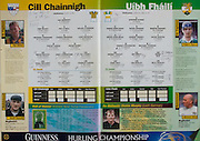 All Ireland Senior Hurling Championship - Final, .13.09.1998, 09.13.1998, 13th September 1998, .13091998AISHCF,.Senior Kilkenny v Offaly, .Minor Kilkenny v Cork,.Offaly 2-16, Kilkenny 1-13,.Kilkenny, 1 Joe Dermody, St Lachtains, 2 Tom Hickey captain, Dunnamaggin, 3 Pat O'Neill, 4 Willie O'Connor, Glenmore, 5 Michael Kavanagh, St Lachtains, 6 Canice Brennan, Conahy Shamrocks, 7 Liam Keoghan, Tullaroan, 8 Phillip Larkin, James Stephens, 9 Peter Barry, James Stephens, 10 Brian McEvoy, James Stephens, 11 Andy Comerford, O'Loughlin Gaels, 12 DJ Carey, Young Irelands, 13 Niall Maloney, St Martins, 14 PJ Delaney, Fenians, 15 Charlie Carter, Young Irelands, Subs, 16 James McGarry, 17 John Costelloe, 18 Ken O'Shea, 19 John Hoyne, 20 Sean Ryan, Dunnamaggin, 21 Denis Ballycallan, ..Offaly, 1 Stephen Byrne, Kilcormac, Killoughey, 2 Simon Whelahan, 3 Kevin Kinhan, Seir Kieran, 4 Martin Hanam, St Rynaghs, 5 Brian Whelehan, Birr, 6 Hubert Rigney, St Rynagh's, 7 Kevin Martin, Tullamore, 8 Johnny Pilkington, Birr, 9 Michael Duignan, St Rynaghs, 10 Johnny Dooley, Seir Kieran, 11 Joe Errity, Birr, 12 Duine Eile, 13 John Troy, Lusmagh, 14 Joe Dooley, Seir Kieran, 15 BIlly Dooley, Seir Kieran, subs, 16 Eoin Kennedy, 17 Barry Whelahan, Birr, 18 Niall Claffey, Birr, 19 Colm Cassidy, Kilcormac Killoughey, 20 Paudie Mulhare, St Rynagh's, 21 John Ryan, Belmont, 22 Darren Hanniffy, Birr, 23 Gary Hanniffy, Birr, 24 Killan Farrell, Edenderry,  .