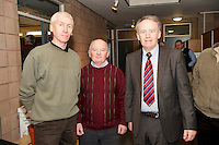 Martin Corcoran Loughrea and Pat Ward Teagasc and Brendan Heneghan  Teagasc at the Sheep Seminar at the Teagasc Liam Mellows campus Athenry.Picture:Andrew Downes