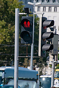 Pedestrian lights at zebra crossings in Vienna Austria