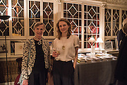 CATHERINE HAMILTON; OLIVIA HAMILTON, The Walter Scott Prize for Historical Fiction 2015 - The Duke of Buccleuch hosts party to for the shortlist announcement. <br /> The winner is announced at the Borders Book Festival in Scotland in June.John Murray's Historic Rooms, 50 Albemarle Street, London, 24 March 2015.