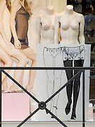funny window display for sexy lingerie France