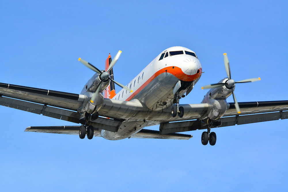 Hawker-Siddeley HS-748 on final approach