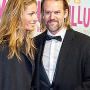 NLD/Amsterdam/20180122 - Filmpremiere Het leven is vurrukkulluk, Jasper Krabbé en partner