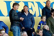 21-04-2016 VOETBAL:SC CAMBUUR-WILLEM II:LEEUWARDEN<br /> Oud Willem II trainers Gert Heerkens en Excelsior trainer Fons Groenendijk op de tribune<br /> <br /> Foto: Geert van Erven