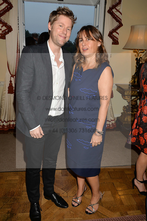 CHRISTOPHER BAILEY Chief Creative and chief executive officer of Burberry and ALEXANDRA SHULMAN at a party hosed by the US Ambassador to the UK Matthew Barzun, his wife Brooke Barzun and editor of UK Vogue Alexandra Shulman in association with J Crew to celebrate London Fashion Week held at Winfield House, Regent's Park, London on 16th September 2014.