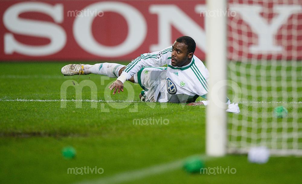Fussball Uefa Champions League VFL Wolfsburg - Manchester United FC GRAFITE (Wolfsburg).