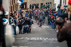 Peloton with KENNAUGH Peter of Team Sky during the UCI WorldTour 103rd Liège-Bastogne-Liège from Liège to Ans with 258 km of racing at Cote de Saint-Roch, Belgium, 23 April 2017. Photo by Pim Nijland / PelotonPhotos.com   All photos usage must carry mandatory copyright credit (Peloton Photos   Pim Nijland)
