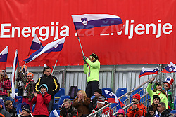 Fans during the 1st Run of Men's Giant Slalom - Pokal Vitranc 2013 of FIS Alpine Ski World Cup 2012/2013, on March 9, 2013 in Vitranc, Kranjska Gora, Slovenia.  (Photo By Vid Ponikvar / Sportida.com)