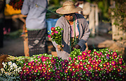 Flower stall at local market in Kalaw (Myamar)