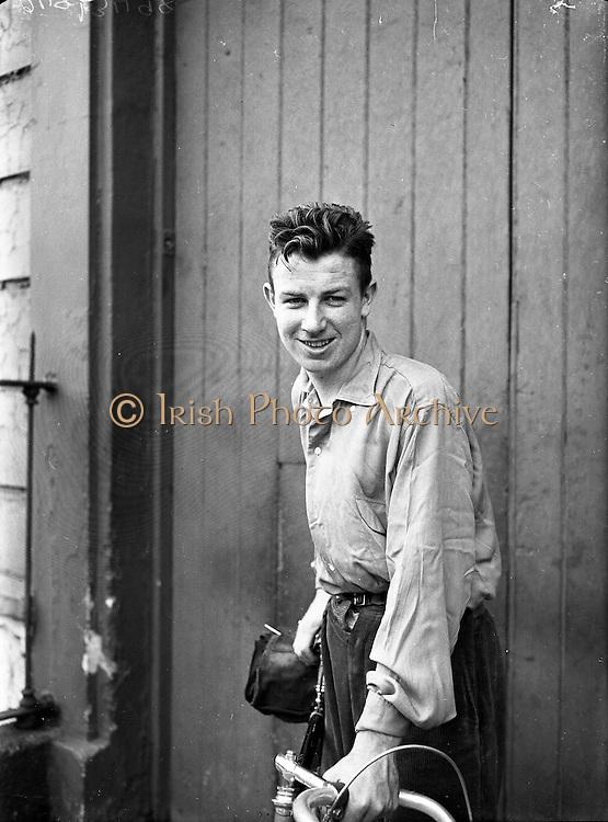 Shea Elliott, Cyclist with the Dublin Wheelers.19/07/1953